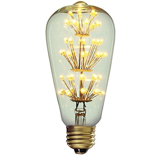 JinYuZe 3W LED E27 Reminiscent Light Bulb with Flower Filaments