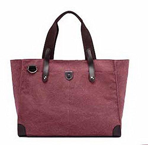 Sacs CCAFBP180749 Femme Rouge Mode Sacs Zippers VogueZone009 Bandoulière fourretout Toile à wCBn7IqAx