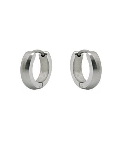 Ijewelry2 Small Stainless Steel Silver Tone Unisex Helix Huggie Hoop