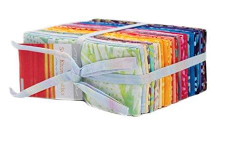 Moda Fabric Batik - Sun Kissed Batiks Fat Eighth Bundle Moda Fabrics 4347F8