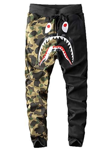 Capturelove Junior Boy Camouflage Shark Head Athletic Bape Pants Shorts - XS from Capturelove