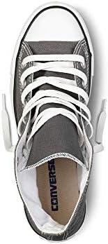Mens C Taylor A/S HI Sneakers (6.5 (MEN'S) / 8.5 WOMEN'S) US, Charcoal)