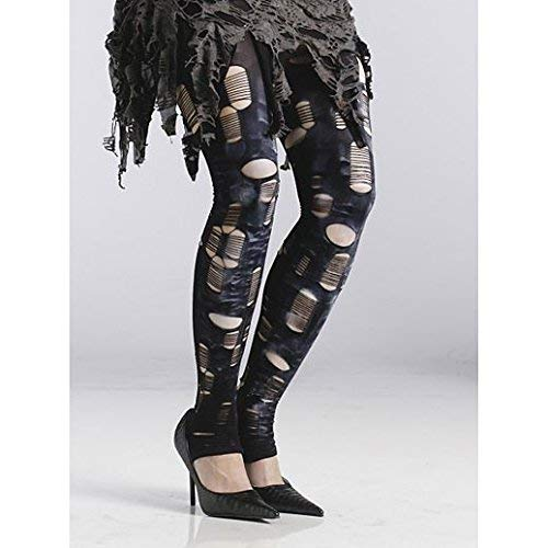 Fancy Face Paint Color Halloween Zombie Tattered Tights