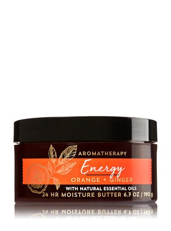 (Bath and Body Works Orange Ginger Aromatherapy Energy Body Butter 6.7 Ounce With Essential)