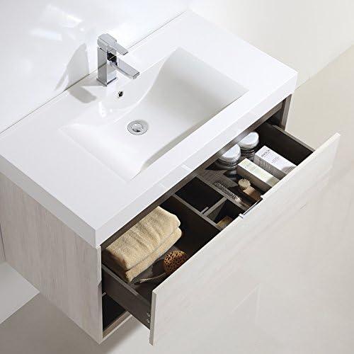 Dowell 015 Series 36 48 Wall Mount Bathroom Vanitypolymarble Sinkset18 Depth Off White 48 Amazon Com