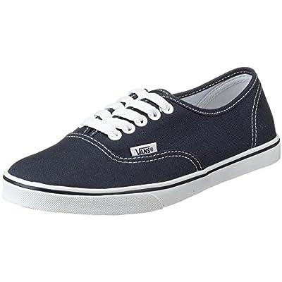 Vans Classic Authentic Lo Pro Black Black Womens Trainers Sneakers (8.5 B(M) US, Navy / True White)