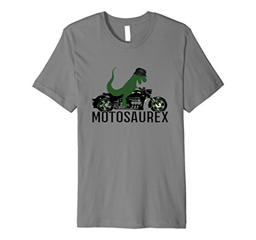 T-rex Cycles (Mens Funny Motorcycle Dinosaur T-REX T-Shirt Large Slate)