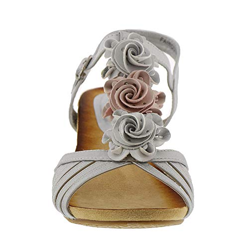Heel Mid Sandals by Wedge Patrizia Women's Fairquin Springstep Silver wvXXqF