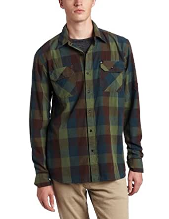 Quiksilver Men's Double Rainbow Woven Shirt, Seagrass Green, Large