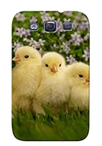 Extragrate Durable Defender Case For Galaxy S3 Tpu Cover(cute Chicks ) Best Gift Choice