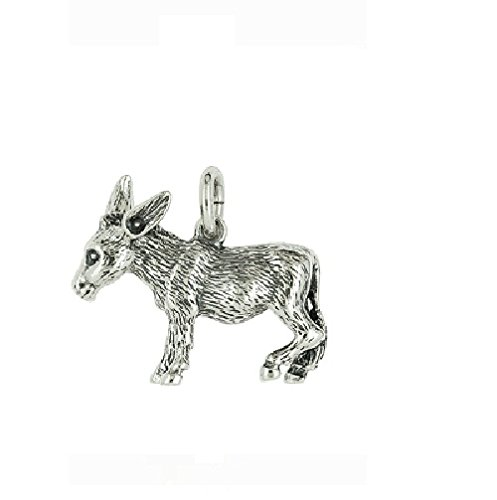 Nora S Argent Sterling 925Chaînes-Pendentif motif animal âne