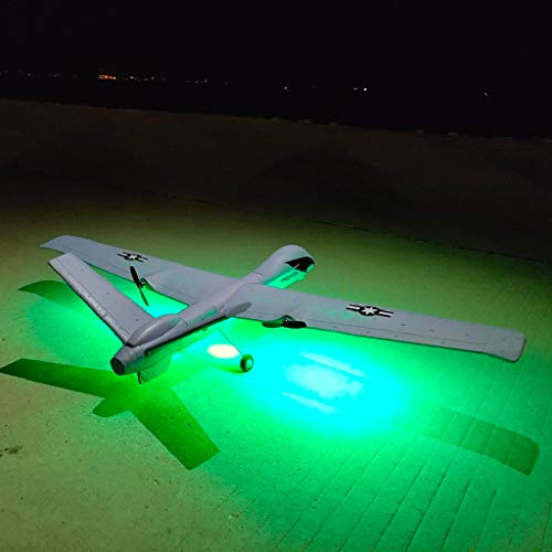 DIY RC Airplane Eemote Control --Z51 2.4G EPP 660mm Wingspan Built-in stability Gyro System/EPP Anti-collision Material --With Light Bar DIY RC Airplane RTF(Install Light Bar fly at night) Cool by COLOR-LILIJ (Image #1)