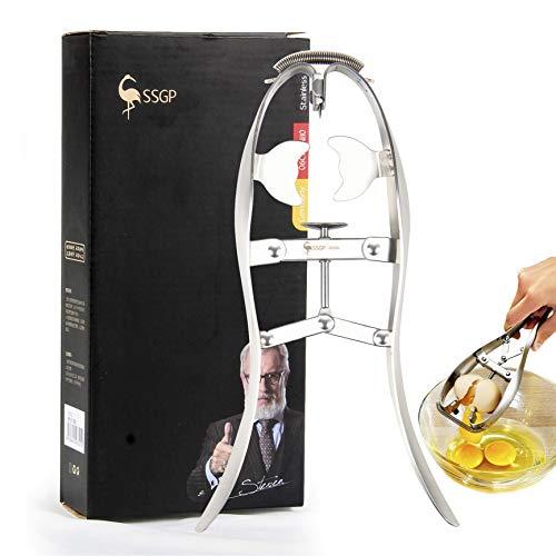 HEROPIE Egg Opener Eggshell Cracker Cutter, Stainless Steel Egg Separator Creative Kitchen Tools