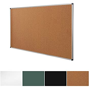 Cork Notice Pin Board | Aluminum Framed Memo Board For Office And Home Use  | 3