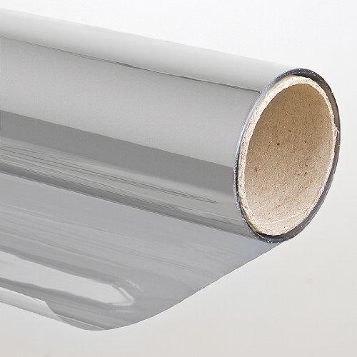 Sonnenschutzfolie Selbstklebend Fensterfolie Tönungsfolie für Fenster 75 x 300 cm silber