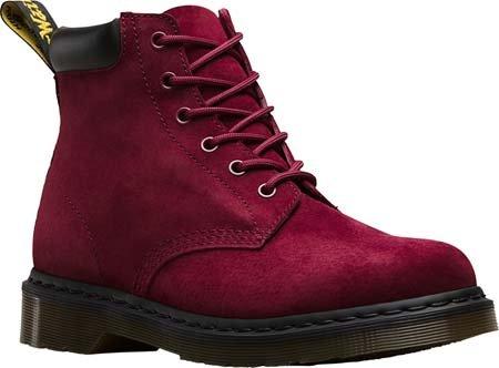 Dr.Martens 939 6 Eyelet Soft Buck Black Womens Boots Wine Soft Buck