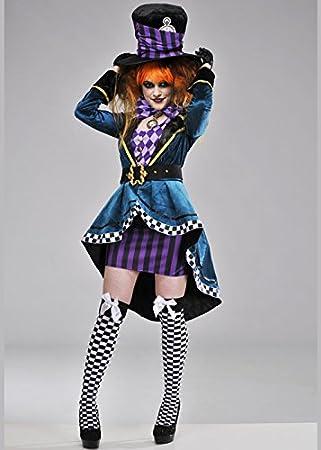 Delights Disfraz de Sombrerero Loco gótico de Lujo para Mujer S (UK 8-10)   Amazon.es  Juguetes y juegos 7ae77afe94e