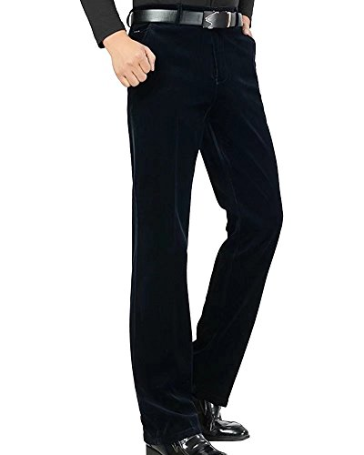 Wxian Men's Casual Straight Fit Pants Corduroy Trousers