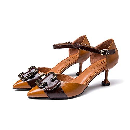 B Zapatos Puntiagudos Asakuchi Mariposas Zapatos Aguja Resorte xqYHwEpY