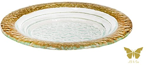 Belleti Crystal and Gold Elegant Platter Collection Perfect for Parties Set of 3 - by Lil & Sue (9.6