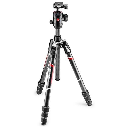 Manfrotto Befree GT Carbon Fiber Travel Tripod with 496 Center Ball Head, Twist