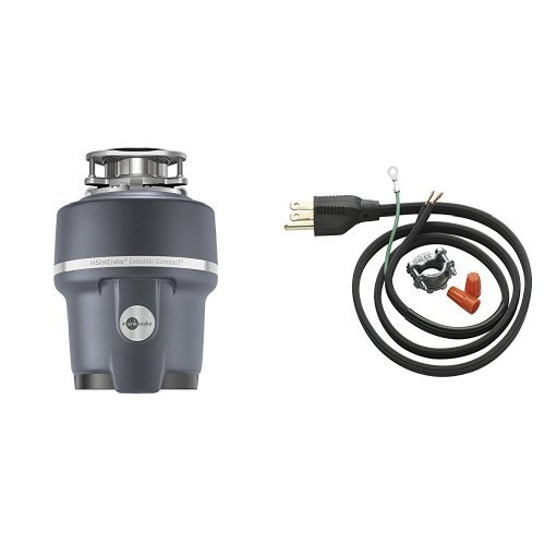 InSinkErator Evolution Compact 3/4 HP Household Garbage Disposer and Power Cord Kit (00 Induction Kit)