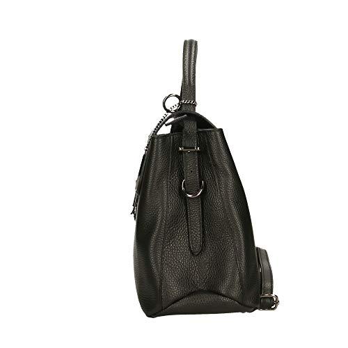 Borsa Nero 31x25x14 Cm Pelle Made In Bag Borse Chicca Italy A Mano x6EnPg