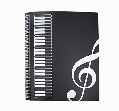 Aimeio 40-Pocket Protector Presentation Book A4 Size 80-Page Capacity,Available for Report Sheets,Artworks,Music Sheets,Clippings School Office Supplies,Black by Aimeio