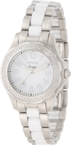 Invicta Women's 1779 Angel White Dial Two Tone Stainless Steel Watch