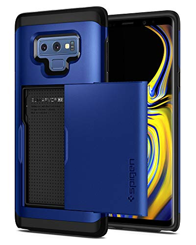 Spigen Slim Armor CS Galaxy Note 9 Case with Slim Dual Layer Wallet Design and Card Slot Holder for Galaxy Note 9 (2018) - Ocean Blue