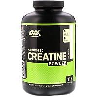 Polvo de monohidrato de creatina micronizada de OPTIMUM NUTRITION, sin sabor, 600 g