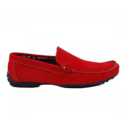 Rojo Rojo Serraje Mocasín Pala Benavente marino qIBS4Awv