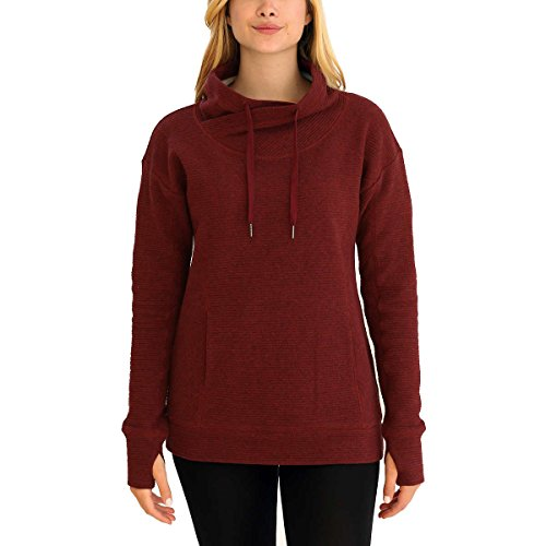 KS Kirkland Signature Ladies' Mock Neck Pullover (X-Large, Red)