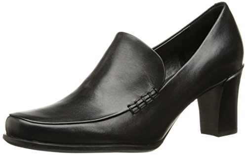 Franco Sarto Women's Nolan Pump,Black Calf,7.5 W US - Black Calf Loafer Shoes