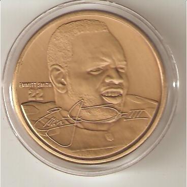 (Highland Mint NFL Football Collectible Coin Bronze: Emmitt Smith - Dallas Cowboys)