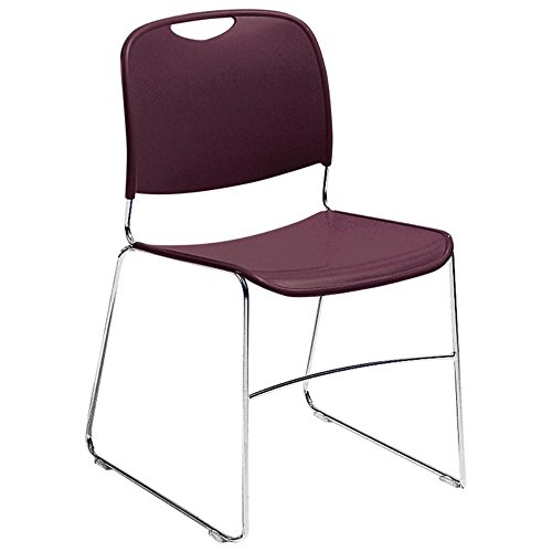 National Public Seating Stack Chair - 17-1/2 X22-1/2 X31'' - Burgundy - Burgundy by National Public Seating