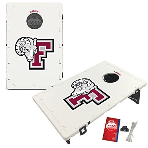 Fordham Univ. Rams Baggo Cornhole Boards Set, NCAA Classic (Includes Matching Bags!) by Victory Tailgate