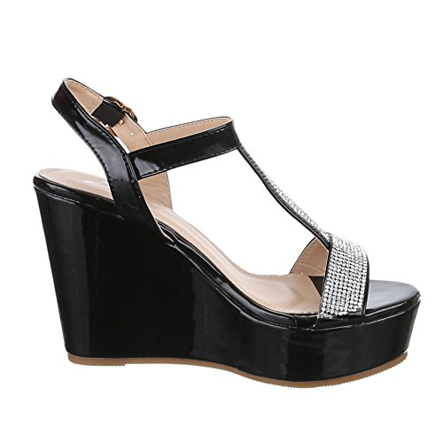 Sandalias Negro Ital negro Mujer Design Sandalias 5qzxTfw7q