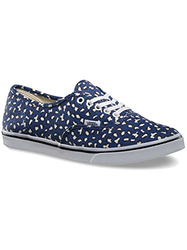 Vans Authentic Lo Pro Print Shoe - Women's (Herringbone Leopard) Twilight Blue, Mens 5.0/Womens - Vans Print Leopard Mens