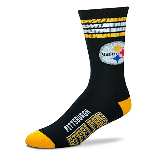 Pittsburgh Steelers 4 Stripe Deuce Crew Socks – Sports Center Store