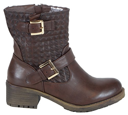 trendBOUTIQUE - Biker Boots de material sintético mujer marrón - KaroSpike Braun