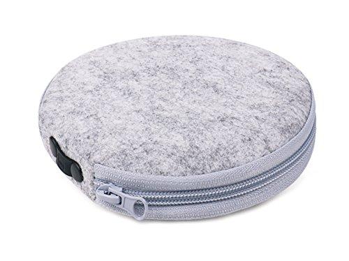Poemay 20 Capacity CD Wallet Case DVD Storage Disc Holder Round Bag Felt (Round Cd Holder)