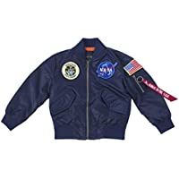 OYSTERBOY Youth NASA MA-1 Flight Light Weight Jacket Military Coat for Kids Boys