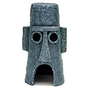 Penn Plax Squidward's Easter Island Home Ornament 13