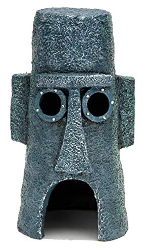 Penn Plax Squidward's Easter Island Home Ornament