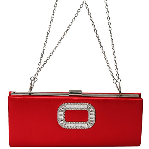 Handbags Crystal Envelope Evening Red Clutch Rhinestone Bag PU Women Purse Fashion Evening vw17aa