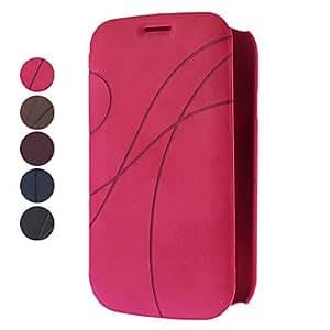 CECT STOCK Diseño elegante funda de cuero PU con ranura para tarjeta para Samsung I9082 Galaxy DUOS (colores surtidos) , Azul