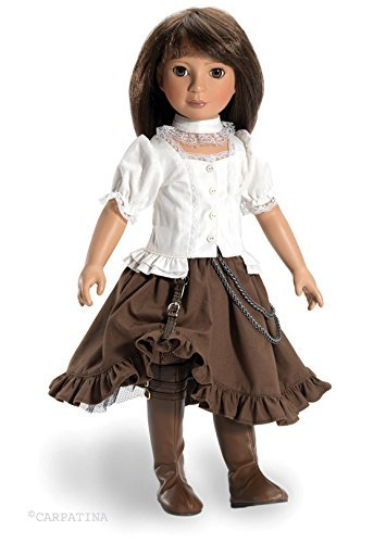 CARPATINA Baker St Steampunk Outfit and Shoes For Slim 18″ dolls like Kidz n Cats