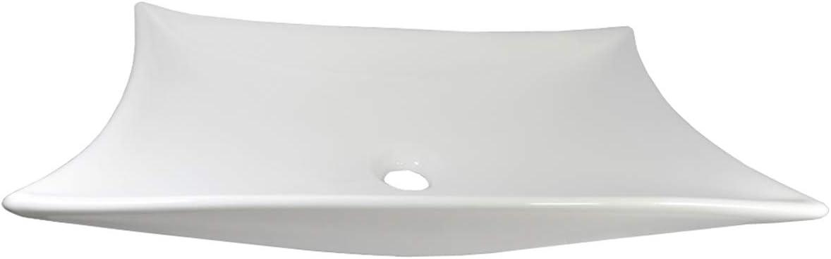 1 lavabo in ceramica ovale grande 56,5 x 36,5 x 12 cm