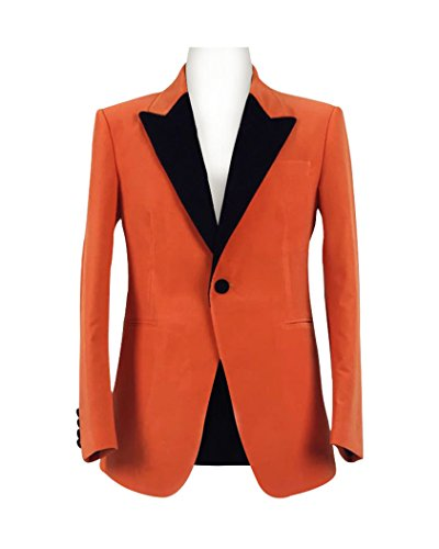 Skycos Mens Orange Coat Cosplay Costume Halloween Outfit